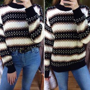 Southern Lady Vintage knit fireside sweater